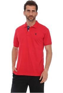 Camisa Polo New York Polo Club Slim - Masculino-Vermelho