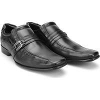 4c10dd3d4 Sapato Social Couro Mariner Bico Quadrado Smart Masculino - Masculino-Preto