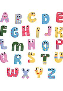 Adesivo De Parede Infantil Alfabeto Kids - Multicolorido - Dafiti