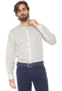 Camisa Dudalina Reta Listrada Off-White/Azul