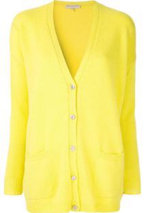 Emilio Pucci Cardigan Com Botões E Aplicações - Amarelo