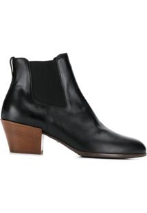 Hogan Ankle Boot Com Recorte - Preto