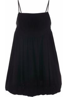 Gina Vestido Decote Quadrado - Preto