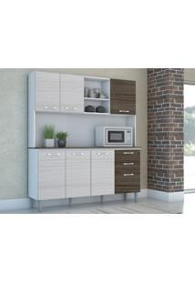 Cozinha Compacta Nápole 7 Portas Rovere/Dubai - Kits Paraná