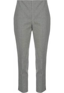 Polo Ralph Lauren Calça Cropped Com Estampa Pied-De-Poule - Cinza