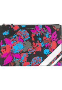 Givenchy Floral Clutch Bag - Preto