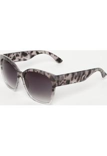 Óculos De Sol Quadrado- Incolor & Preto- Les Bains Ples Bains Paris