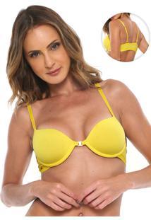 Sutiã Morena Rosa Meia-Taça Multiformas Amarelo