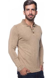 Camisa Polo Basic Le Tisserand Bege
