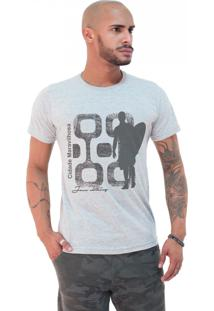 Camiseta Masculina Joss Premium Cidade Maravilhosa Cinza