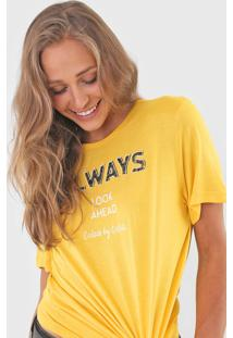 Camiseta Colcci Always Amarela