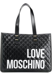 Love Moschino Logo Quilted Tote Bag - Preto