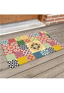 Capacho Decorativo Haus For Fun Mix Floral 60X40 Cm – Colorido
