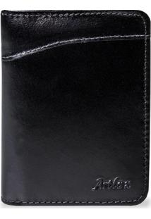 Carteira Porta Documentos Artlux - Masculino-Preto