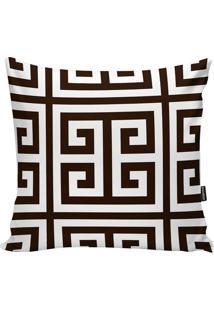 Capa De Almofada Geometric- Branca & Marrom Escuro- Stm Home