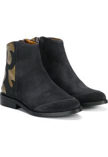 Zadig & Voltaire Kids Ankle Boot De Camurça - Grey