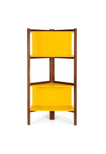 Estante Easy Cor Cacau Com Amarelo - 28989 Cacau Com Amarelo
