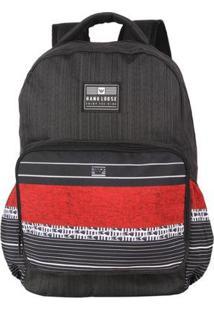 Mochila Oh My Bag Paddle Hang Loose - Unissex-Preto+Vermelho
