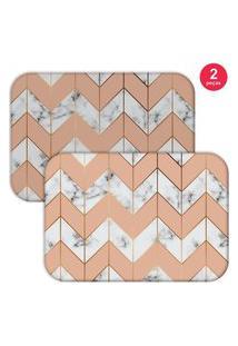 Jogo Americano Love Decor Marble Geometric Salmáo