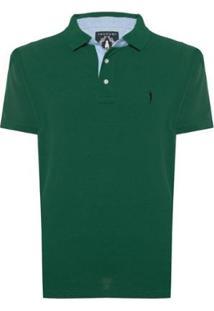 Camisa Polo Aleatory Lisa Masculina - Masculino-Verde Militar