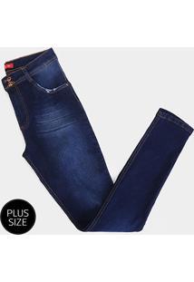 Calça Jeans Plus Size Biotipo Alice Skinny Cintura Alta Feminina - Feminino