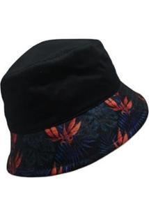 Chapéu Black Bird Bucket Hats Thb 06 - Unissex-Preto