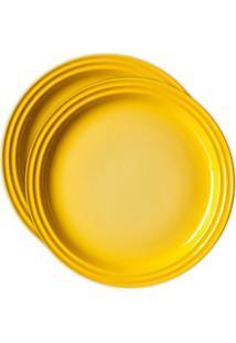 Jogo 2 Pratos Redondos 15Cm Amarelo Dijon Le Creuset