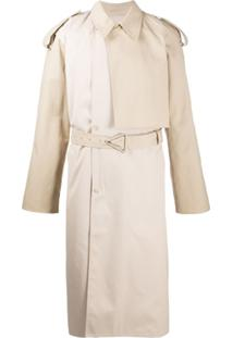 Bottega Veneta Two-Tone Trench Coat - Neutro