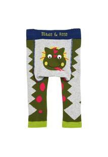 Meia Calça Legging Dragão Blade And Rose Verde