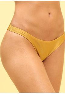 Calcinha Tanga Lisa- Dourada- R. Do Solr. Do Sol