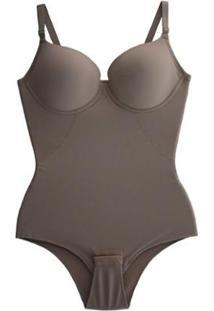 Cinta Liebe Body Bojo Modeladora Redutora Compressão Afina Cintura - Feminino-Bege