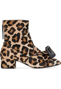 Nº21 Ankle Boot Com Estampa De Leopardo - Preto