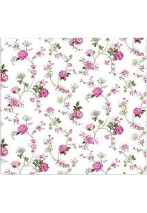 Papel De Parede Floral Colorido Casa Bella Vinilizado 53Cm X 10M Muresco