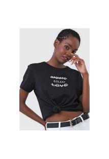Camiseta Colcci Radiate Love Preta