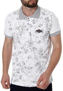 Camisa Polo Gangster Masculina - Masculino-Branco