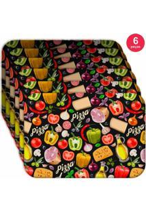 Jogo Americano Love Decor Wevans Premium Pizza Kit Com 6 Pçs