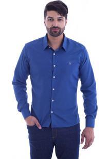 Camisa Slim Fit Live Luxor Petroleo 2112-22 - M
