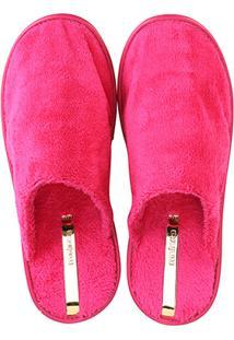 Pantufa Moleca Pelinho Feminina - Feminino-Pink