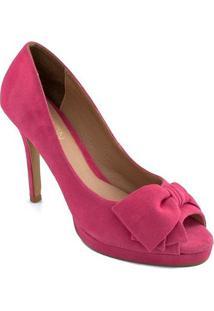 Peep Toe Com Laço Belmon - M05 - Feminino-Pink