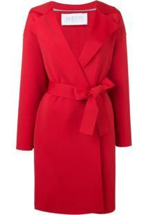 Harris Wharf London Double-Breasted Trench Coat - Vermelho
