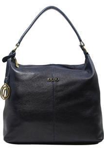 Bolsa De Couro Recuo Fashion Bag Hobo Argo Azul