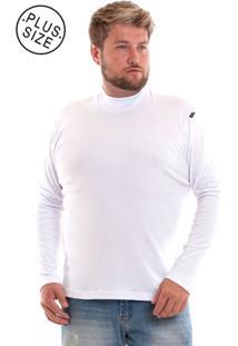 Camiseta Konciny Gola Alta Plus Size Branco