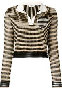Fendi Camisa Polo De Tricô - Preto