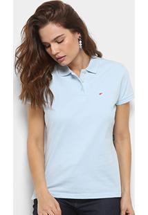 Camisa Pólo Marrom feminina  0f5751925814c