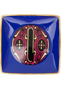 Versace Home Tigela Holiday Alphabet 'O' - Azul