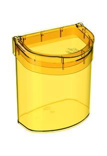 Lixeira Para Pia Glass 20,3 X 14,6 X 21,3 Cm 2,7 L Amarelo Coza