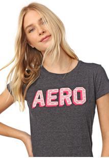 Camiseta Aeropostale Renda Grafite