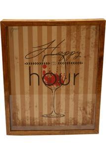 Quadro Decorativo Tabaco Porta Rolhas Happy Vinho Prolab Gift