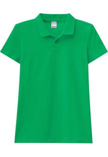 Blusa Polo Verde Claro Meia Malha Malwee