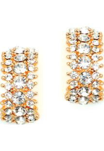 Brinco Lovelee Acessórios Argola Tripla Cristal Cristal